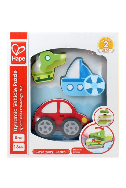 hape dynamic vehicles puzzle