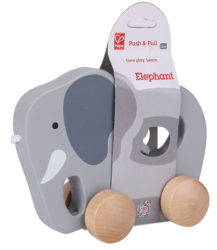 hape push & pull animal elephant