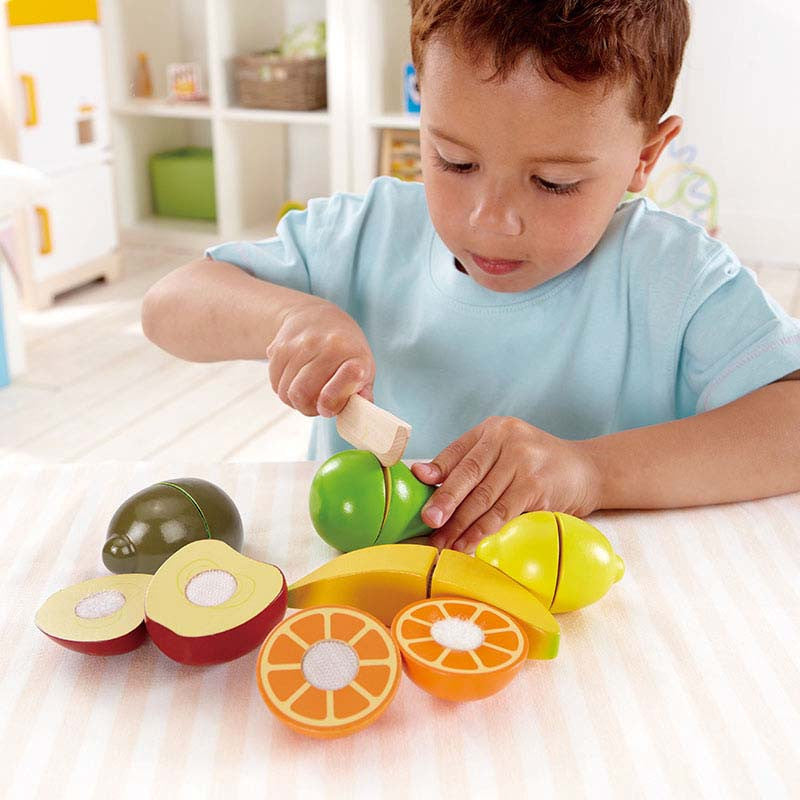 hape wooden fresh fruit set