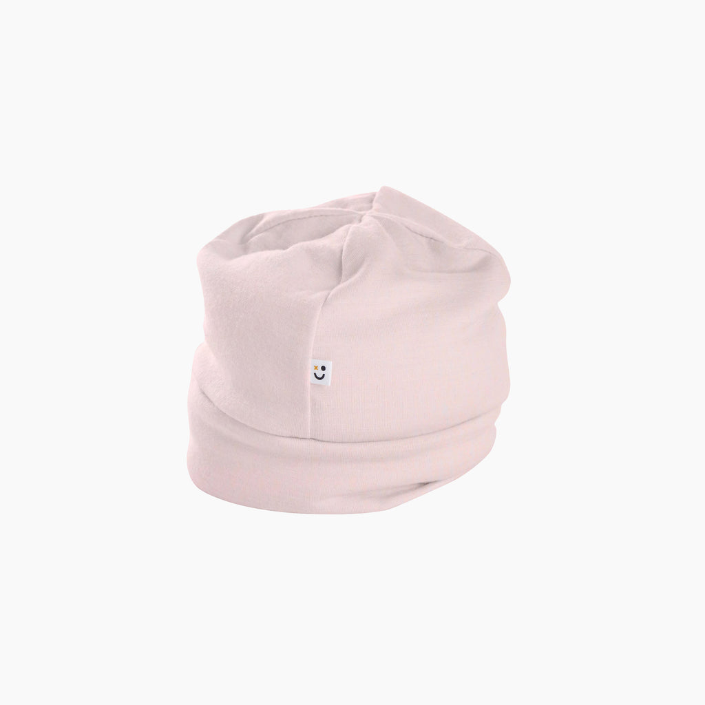 mello merino mini beanie in powder pink