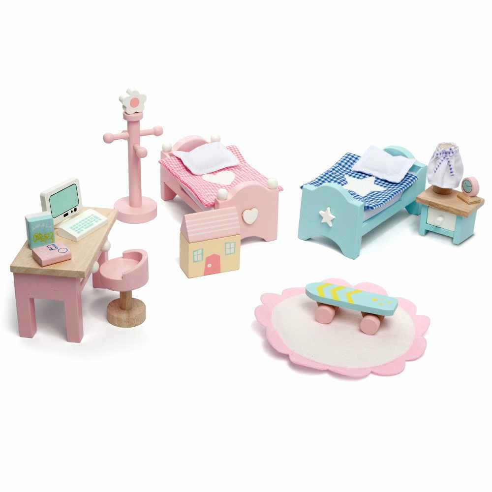 le toy van daisy lane children's bedroom dolls house furniture