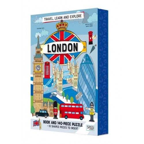 sassi puzzle & book set london 140 piece puzzle