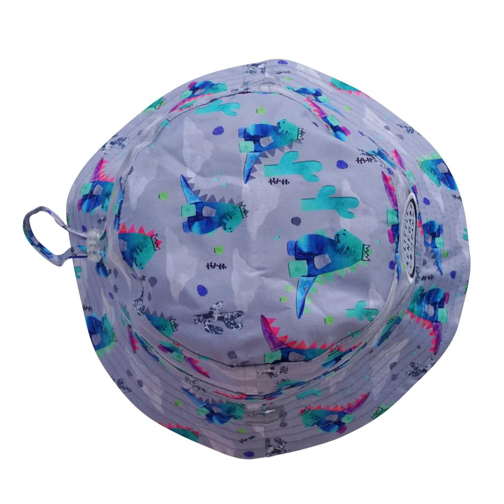 little renegade bucket style sun hat in Dino print