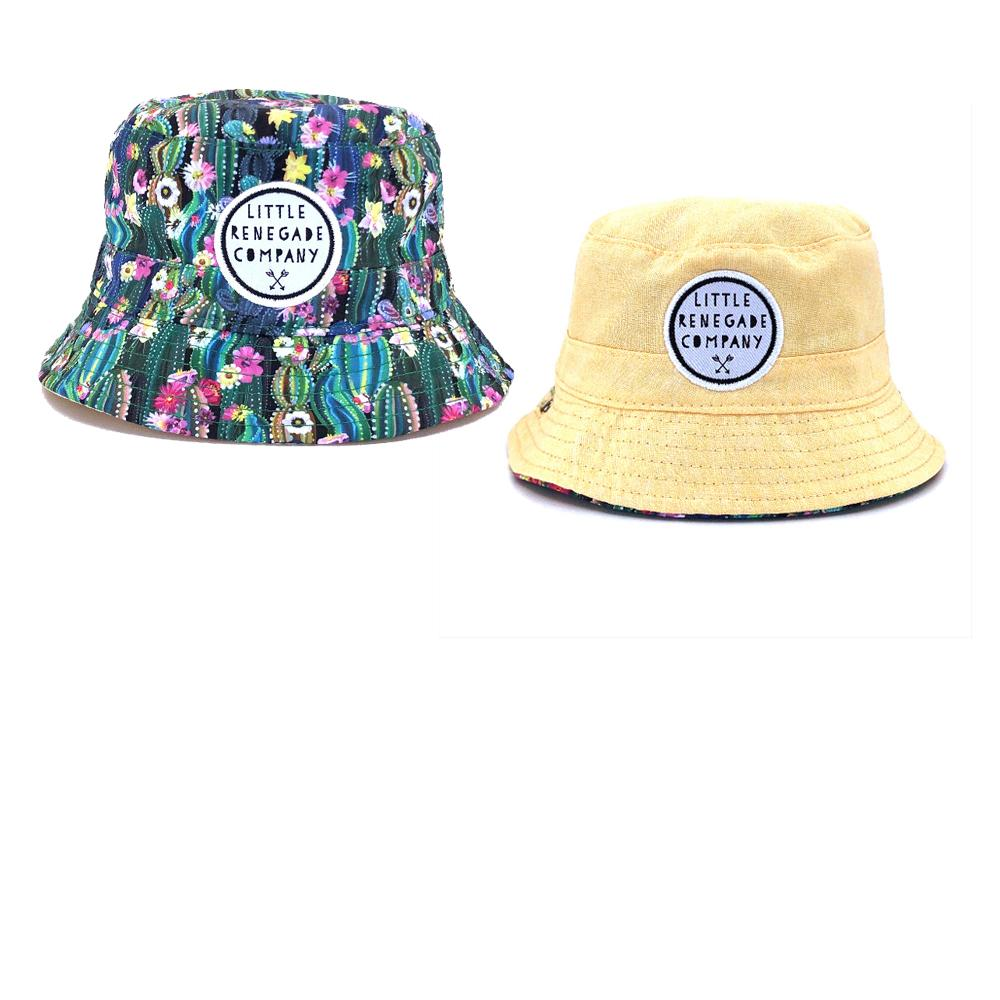 little renegade bucket style sunhat in oasis print