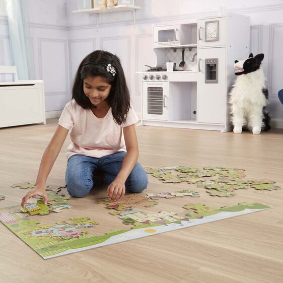 melissa & doug 60 piece giant floor puzzle princess fairyland