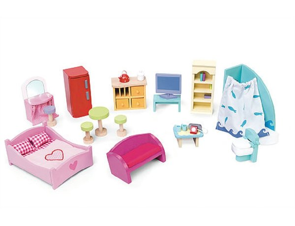 le toy van furniture set for a dolls house