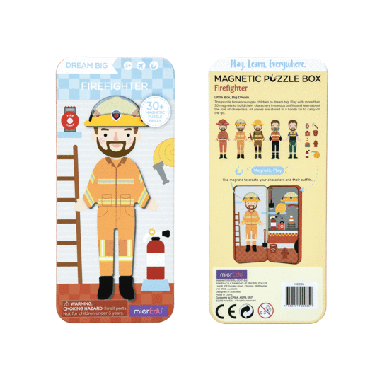 meir edu magnetic puzzle firefighter