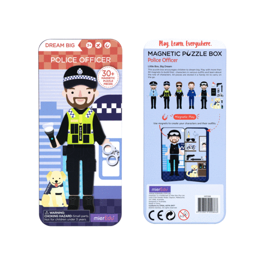 mier edu magnetic puzzle police officer