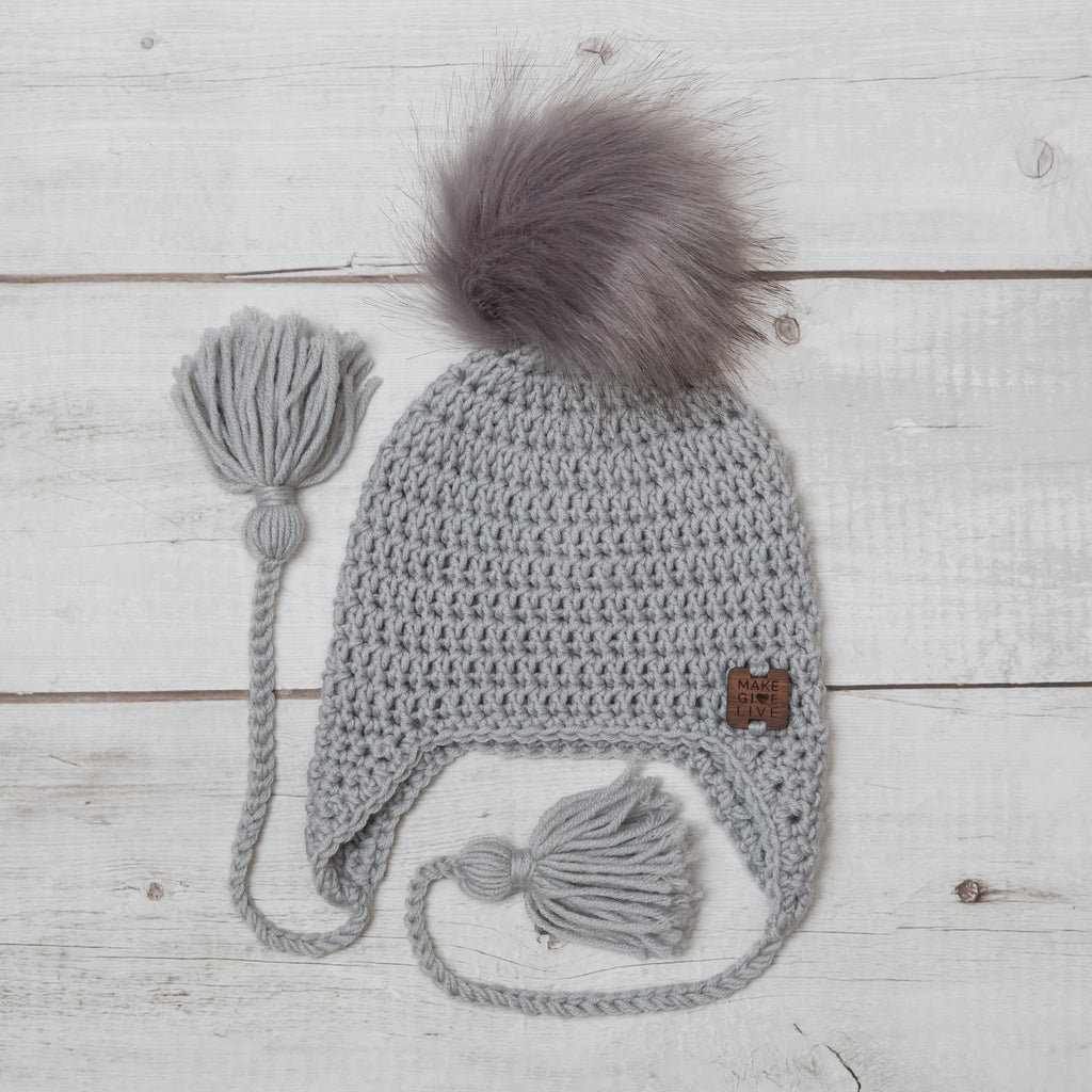 make give live merino misha beanie in mist