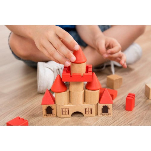 Miniland aptitude eco wooden stacking castle 100 piece set