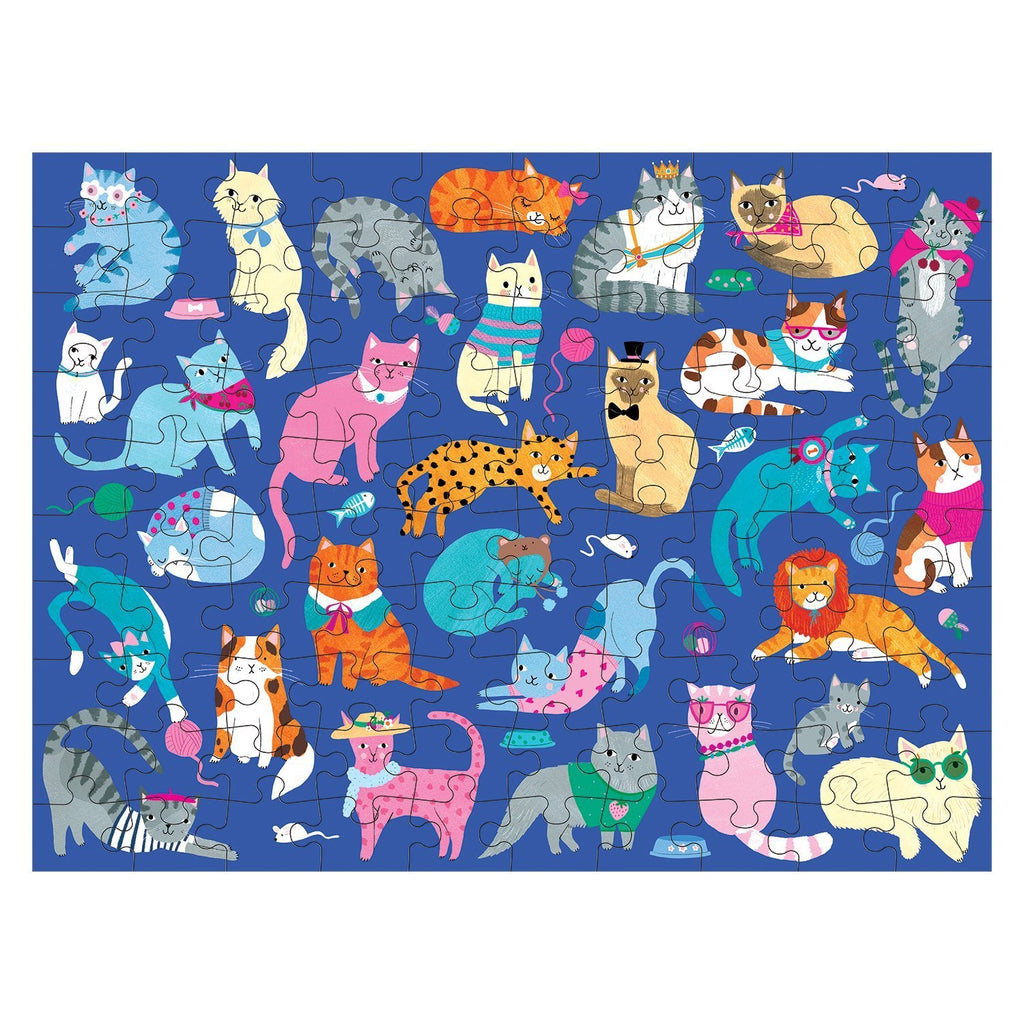 mudpuppy double sided 100 piece puzzle cats & dogs