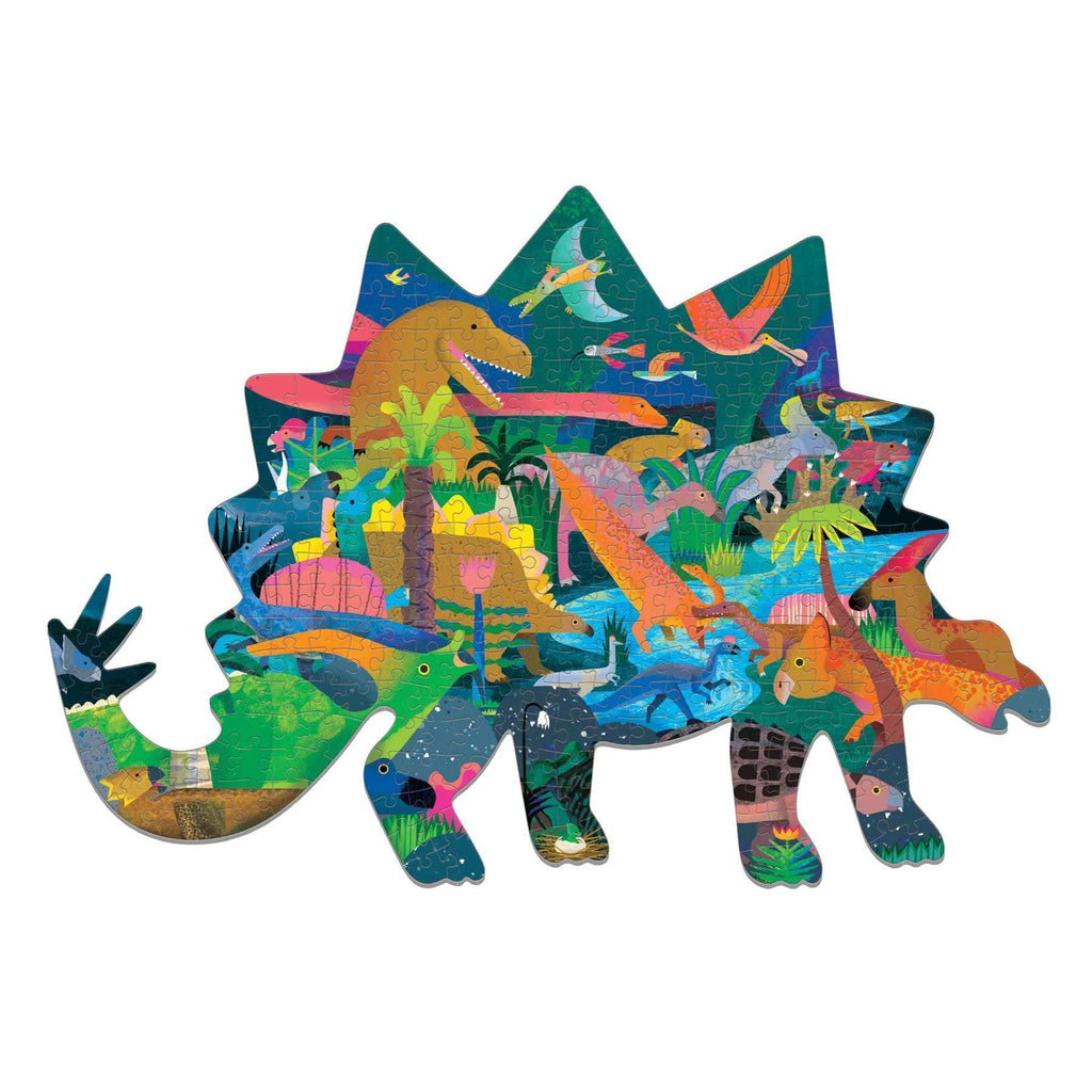 mudpuppy 300 piece shaped dinosaur puzzle