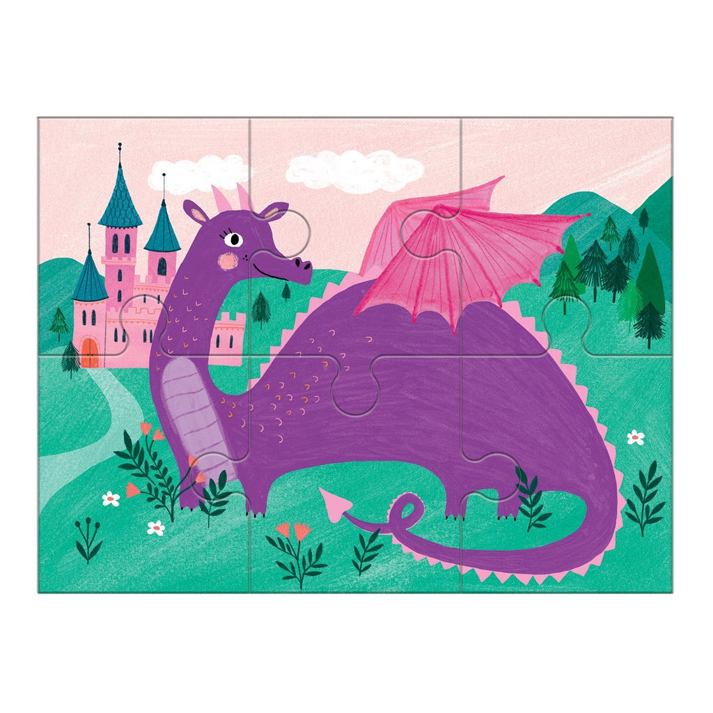 mudpuppy 4 in a box puzzle set magical friends