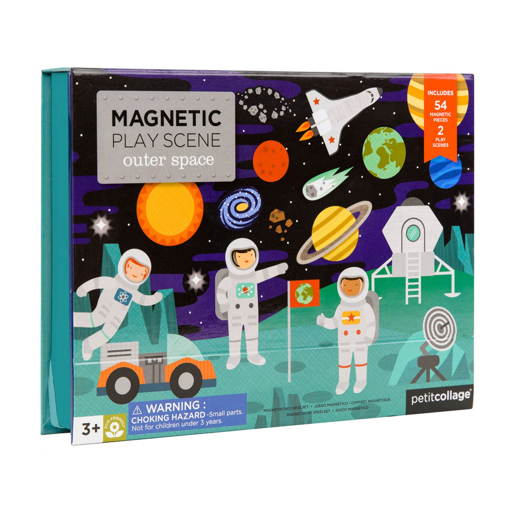 petit collage magnetic play scene outer space