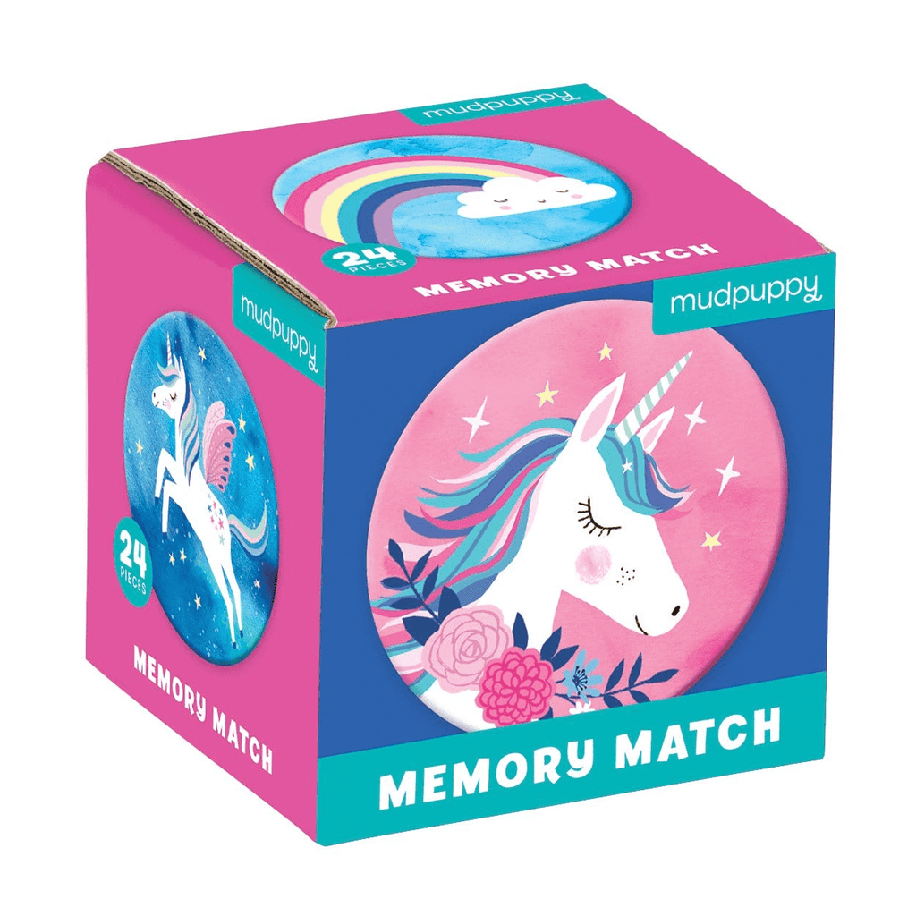 mudpuppy mini memory match game unicorn magic