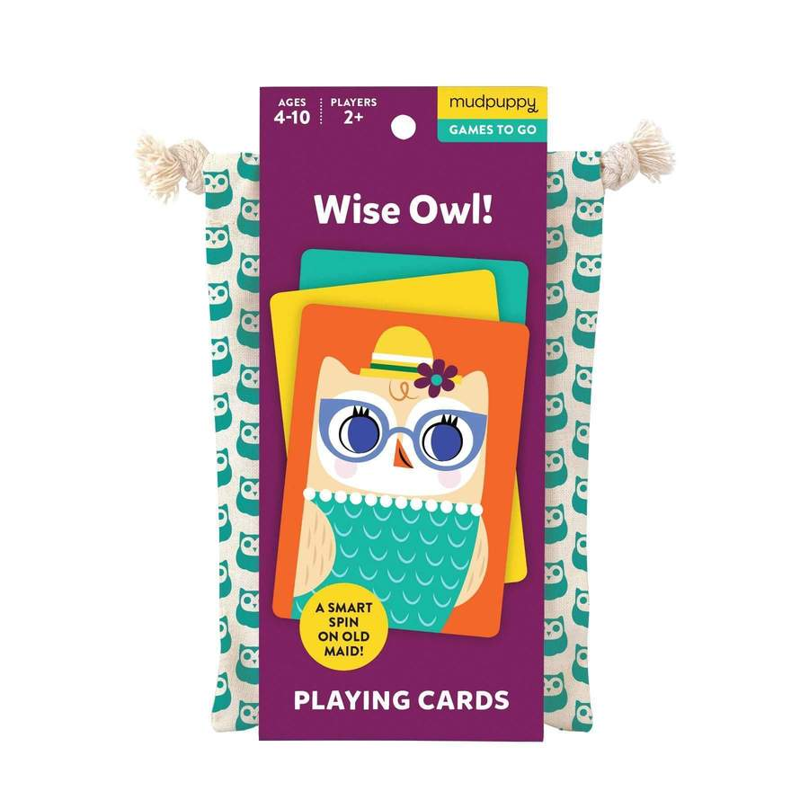 mudpuppy wise owl playing cards