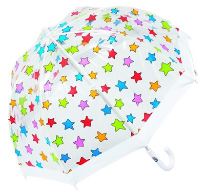 children's umbrella in multi stars print