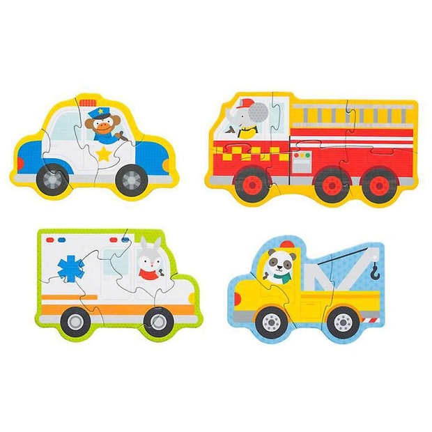 petit collage begnner puzzle rescue vehicles