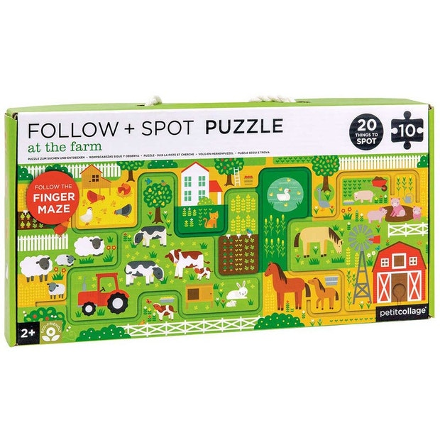 petit collage follow  + spot puzzle at the farm