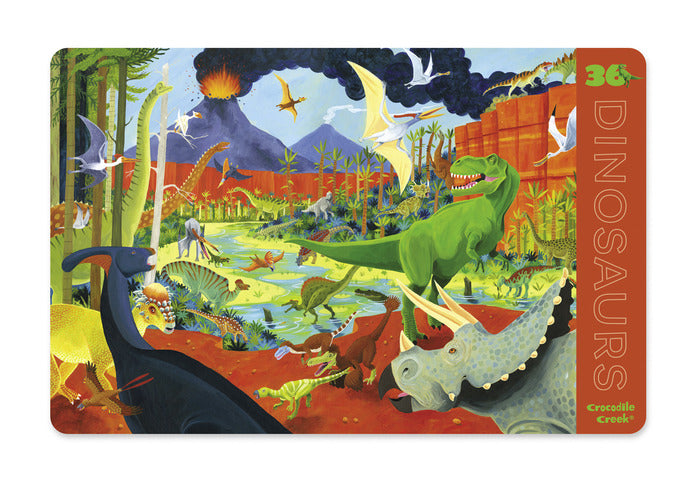 crocodile creek placemat dinosaurs