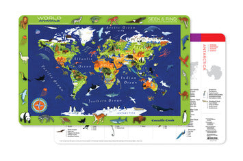 Crocodile Creek Placemat World Animals