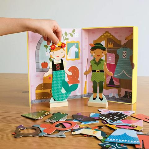 petit collage magnetic play scene fairy tale