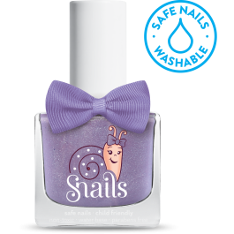 snails water based nail polish in purple comet