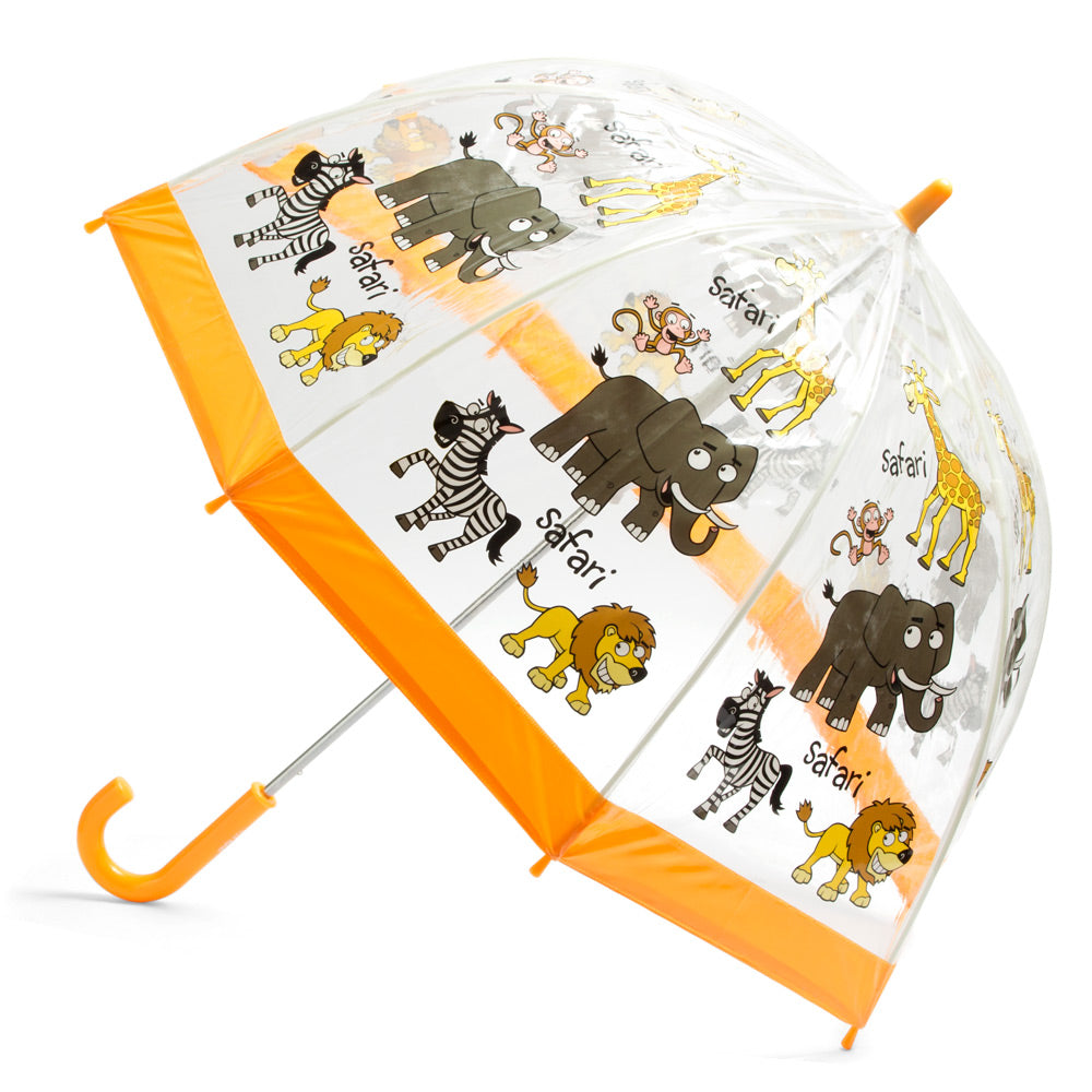 kids umbrella safari print