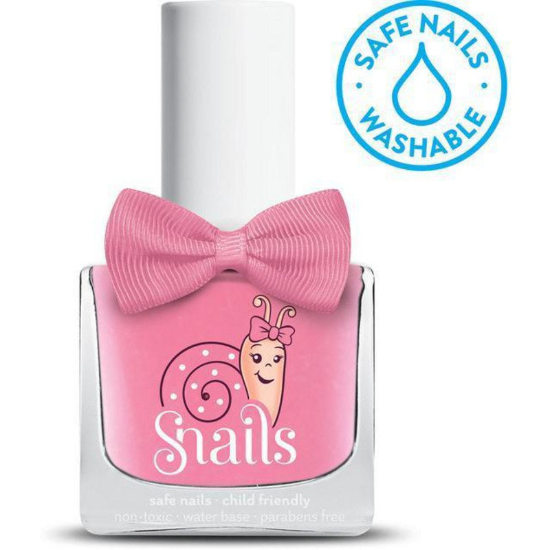 snails childrens washable nail polish in pink bang
