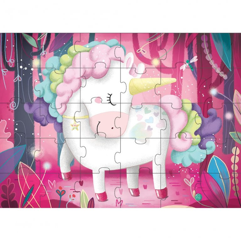 Sassi book & giant puzzle set the magic unicorn 30 piece puzzle