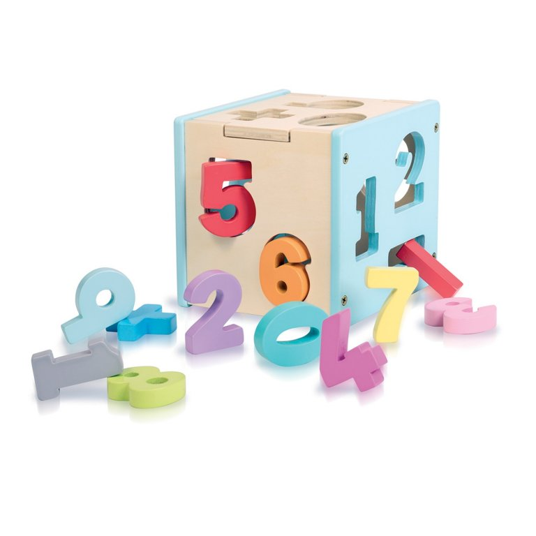 Sassi wooden sorting box & number set - numbers