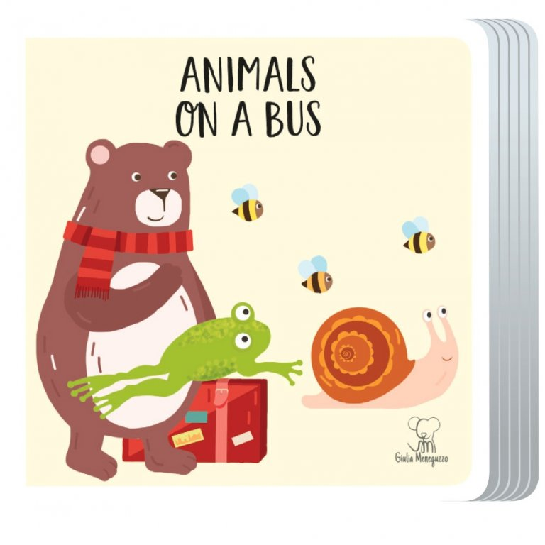 Sassi animals on a bus puzzle and book set