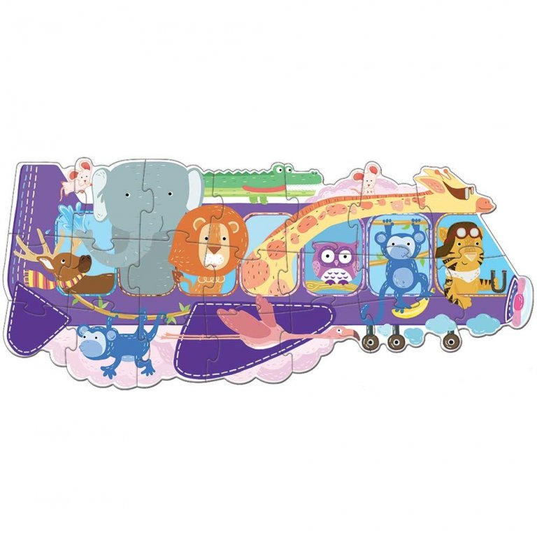 Sassi animals on a plane book & puzzle set