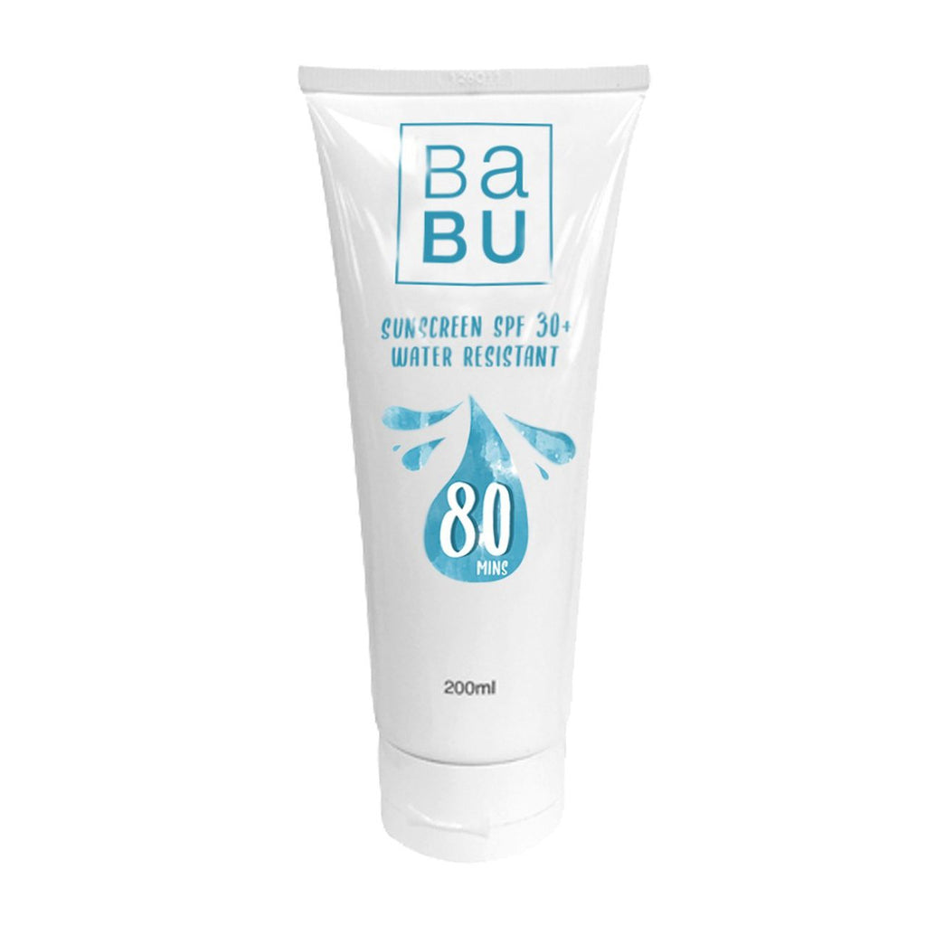 babu sunscreen spa 30 water resistant