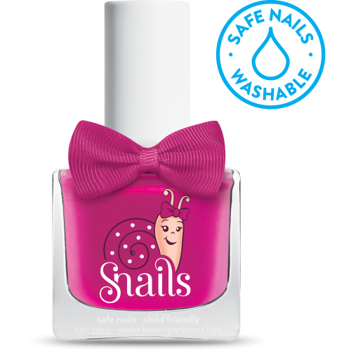 snails safe nails polish in sweetheart pink