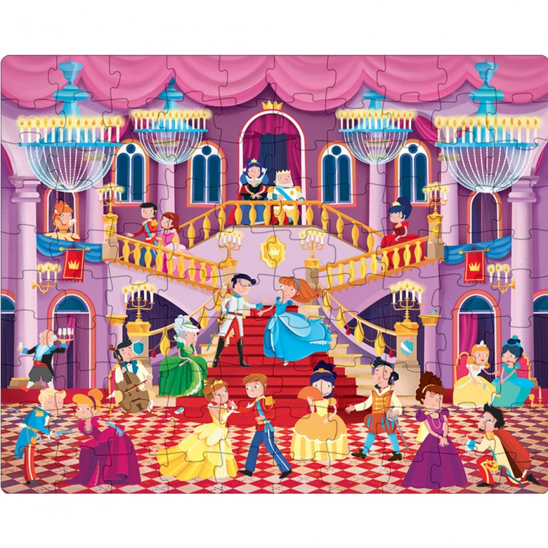 sassi book & giant puzzle set the princess ball 30 piece puzzle