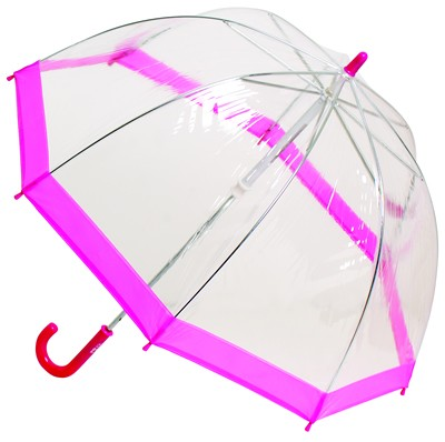 child bugs umbrella clear pink