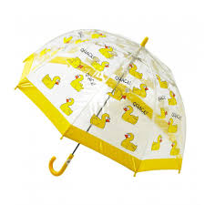 child umbrella ducks patter