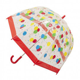 kids umbrella balloons print