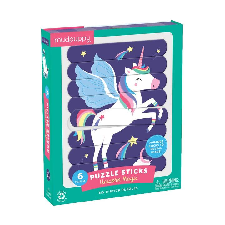 mudpuppy puzzle sticks unicorn magic