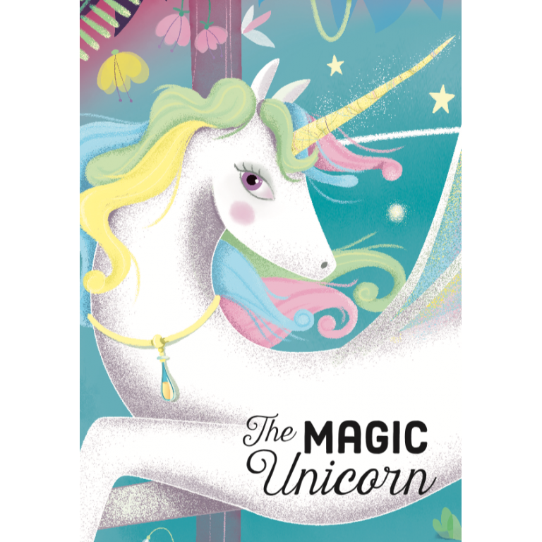 sassi book & puzzle unicorn 100 piece puzzle