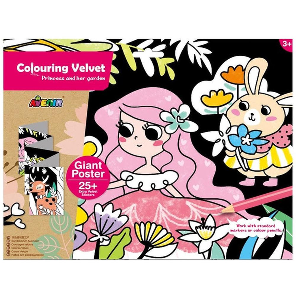 avenir colouring velvet princess & her garden