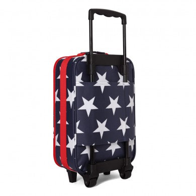 penny scallan navy star 2 wheel suitcase