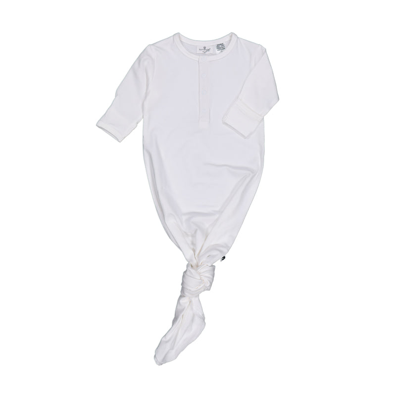 burrow & be baby sleep gown in white