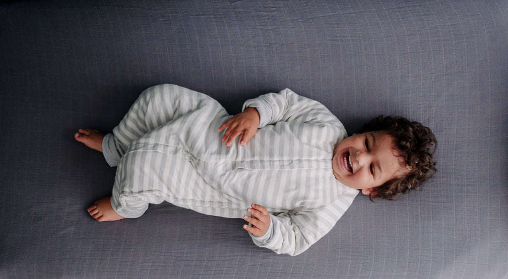 Woolbabe Duvet Sleeping Suit with Arms (Pebble)