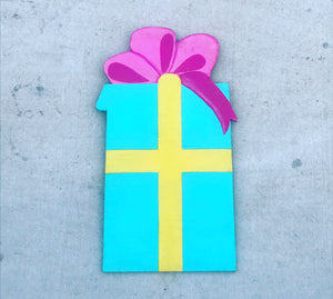 Turquoise Present with Pink Bow