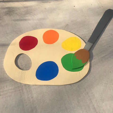 Paint Brush & Palette