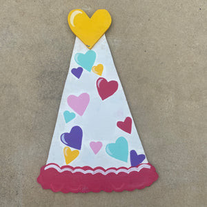 Hearts Party Hat