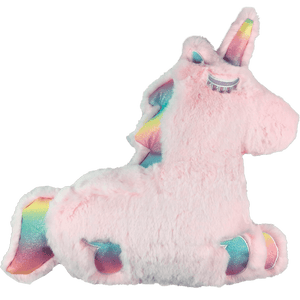 Furry Rainbow Pink Unicorn Scented Pillow