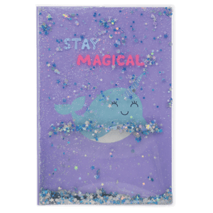 Narwhal Floating Glitter Journal